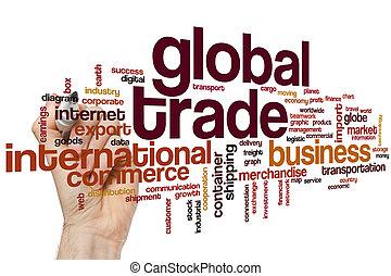 global, mot, nuage, commercer