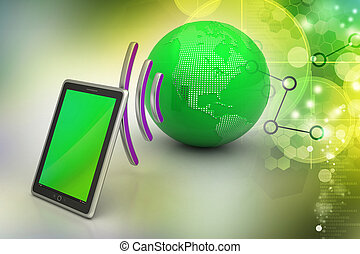 Global network and internet communication concept