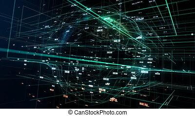 global network animation animation symbolizing global IT -...
