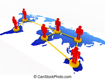 global network business concept
