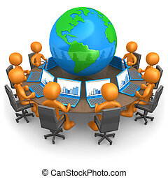 Global Network - Computer Generated Image - Global Network