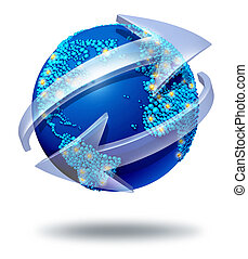 Global Network Communications - Global communications symbol...