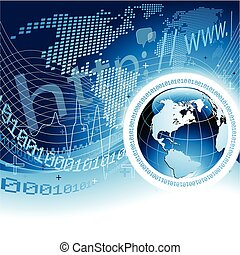 Global Network Concept - Vector illustration representing an...