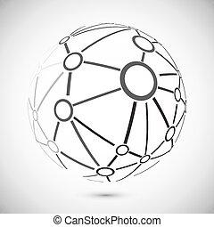 Global network - Modern globe connections network design,...