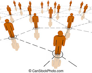 Global Network - Global communications, teamwork, business...