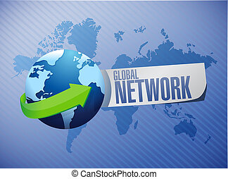 global network sign concept