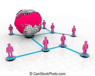 global, networking., pessoas, social