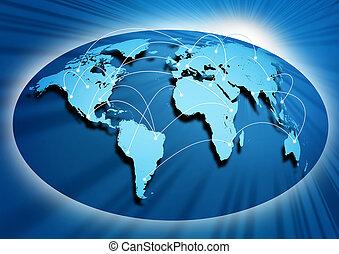 Global networking symbol of international comunication ...