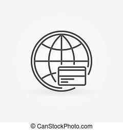 Global payment line icon