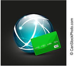 Global payment vector concept icon