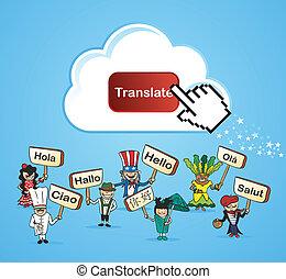 Global people translate concept