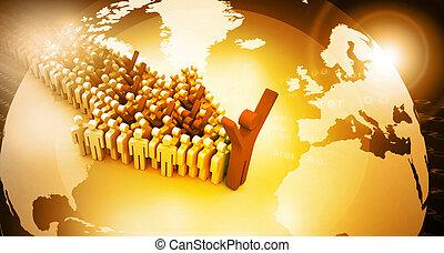 global, pessoas, liderança, conceito