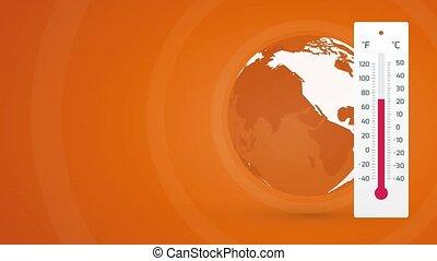 global, planète, concept, chauffage, la terre