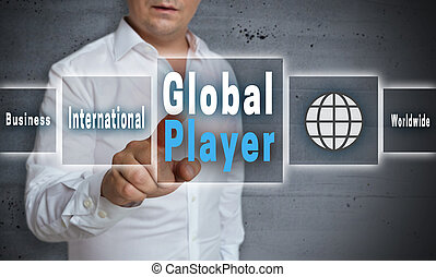 Global player touchscreen concept background