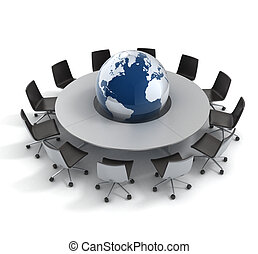 global politics, diplomacy, strategy, environment, world leadership 3d concept