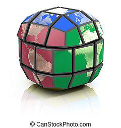 global politics  - global politics, globalization 3d concept