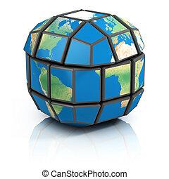 global politics, globalization, 3d concept