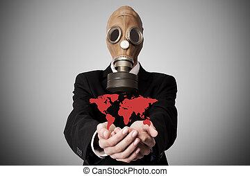 global pollution or pandemic concept