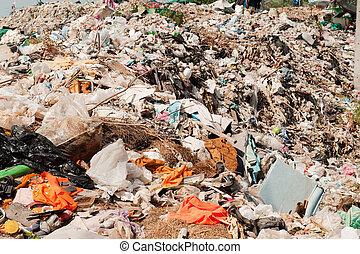 global, poluição, warming, lixo