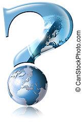 global, por qué, preguntas