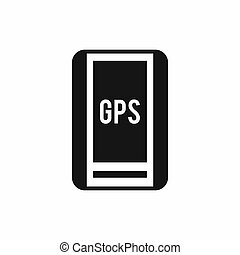 Global Positioning System icon, simple style