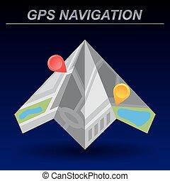 Global Positioning System, navigation. Infographic template. Vector illustration