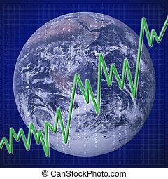global, récupération, économie