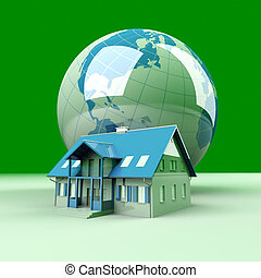 Global Real Estate - Real estate arround the World. 3D...