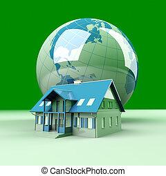 Global Real Estate - Real estate arround the World. 3D...