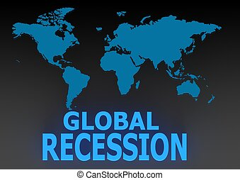Global recession - Rendered artwork with white background