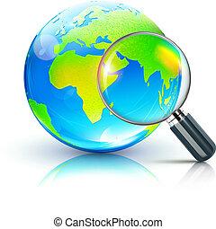 global, recherche, concept