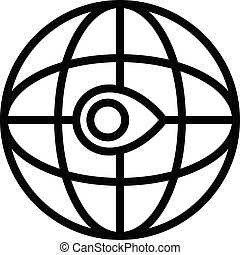 Global relocation icon, outline style - Global relocation ...