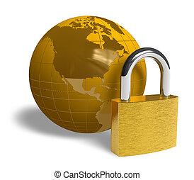 global, sécurité, concept