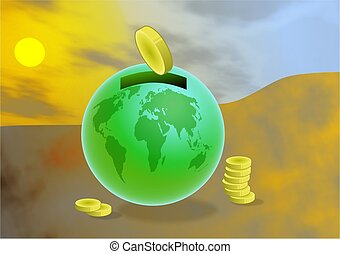 Global Savings - concept illustration
