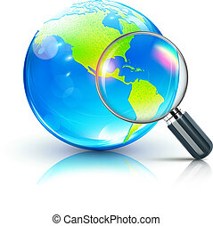 global search concept - Vector illustration of global search...