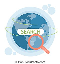 Global search concept.