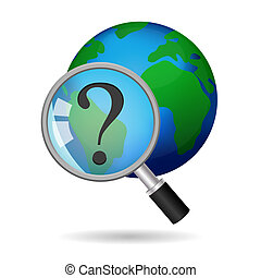 Global Search Concept Vector Icon