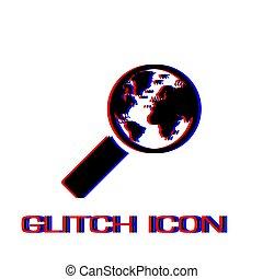 Global search icon flat