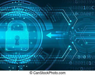 Global security service futuristic vector abstract ...