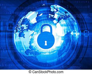global, segurança internet, conceito