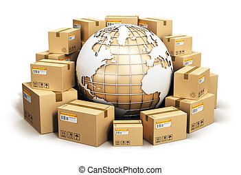 Global shipping and worldwide logistics concept