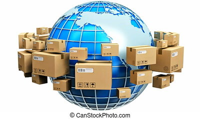 Global shipping concept - Creative abstract global...
