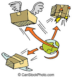 Global Shipping Icon Set