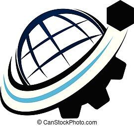 Global Shipping Logo Design Template Vector