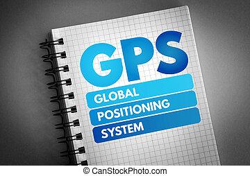 global, sistema, siglas, gps, posicionar, -