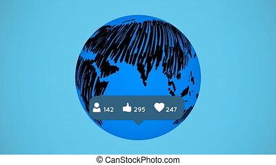 Global social media networking popularity