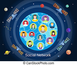 Global social network concept