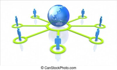Global social network.