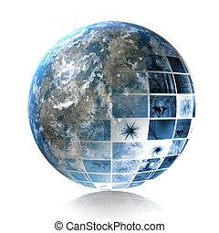Global Software - Blue Creative Design Element Corporate...