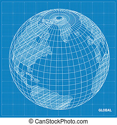 Global sphere blueprint.